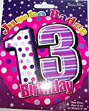 13 years old birthday badge for girl