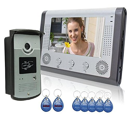 """3 opinioni per Videocitofono 7"""" colori con RFID Card, visione notturna video citofono (108)"""
