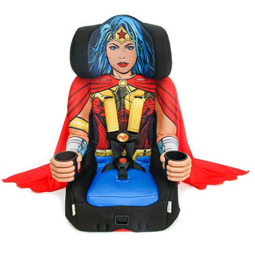 KidsEmbrace 2-in-1 Harness Booster Car Seat, DC Comics Wonder Woman
