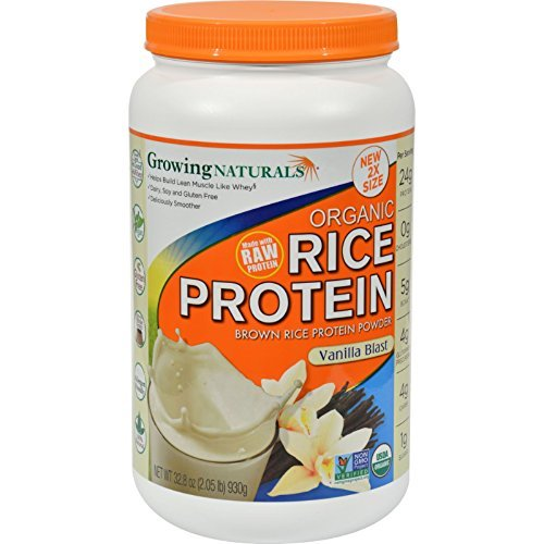 Growing Naturals Rice Prot Pwd Og2 Vanilla 32.8 Oz by Growing Naturals