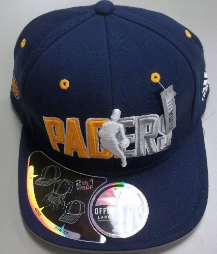 Indiana Pacers Draft - Adidas Indiana Pacers Flat Brim Flex Official 2010 Draft Cap Large/X Large