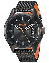 BOSS Orange Men's 'HONG KONG SPORT' Quartz Resin and Nylon Casual Watch, Color:Black (Model: 1550003)