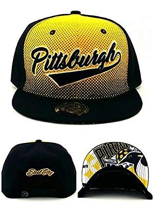 King's Choice Pittsburgh New City Family Leader Penguins Colors Black Gold Era Snapback Hat Cap