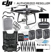 DJI Phantom 4 PRO+ PLUS Obsidian Edition Drone Quadcopter Includes Display (Black) Ultimate Travel Bundle