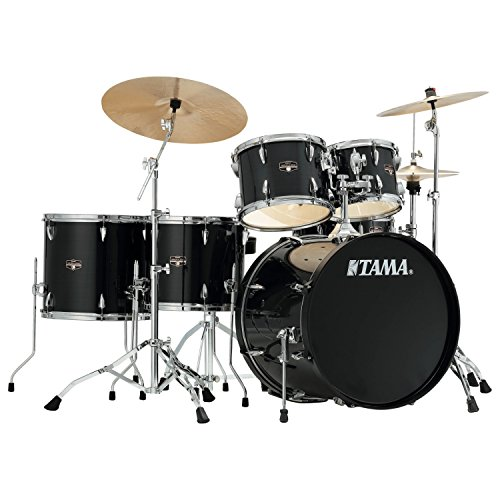 Tama Imperialstar 6-Piece Complete Drum Set with Meinl HCS Cymbals – FREE PROMO CYMBAL PACK – Hairline Black