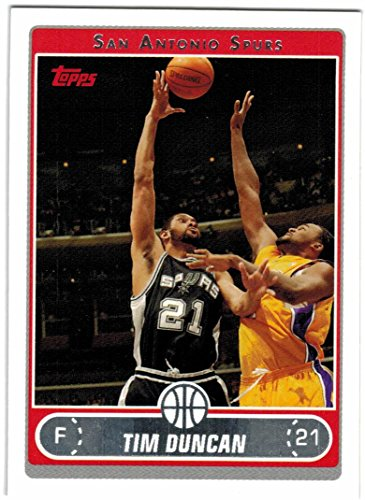 2006-07 Topps San Antonio Spurs NBA Champs Team Set with Tim Duncan & Tony Parker - 6 Cards