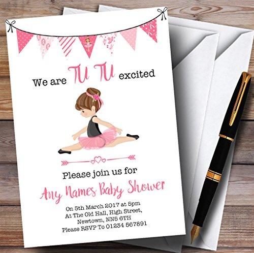 Cute Ballerina Ballet Invitations Baby Shower Invitations