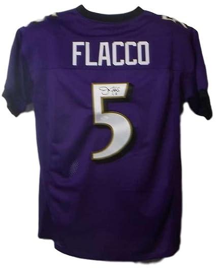 online retailer ab4fe a3a4a Signed Joe Flacco Jersey - XL Purple 19195 - JSA Certified ...