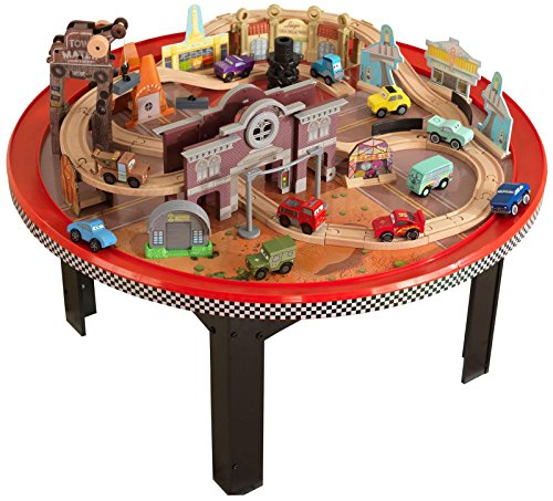 KidKraft Disney CARS Cadillac Range Train Set and (Disney Cars Table)