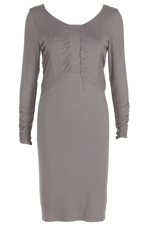 Kleid - Braun-Grau Größe 38