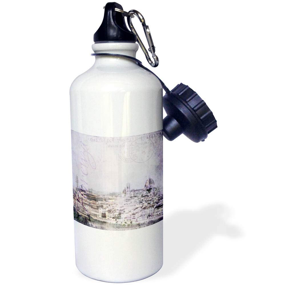 3dRose Andrea Haase Art Illustration - Illustration Of Florence In Italy - 21 oz Sports Water Bottle (wb_289003_1)