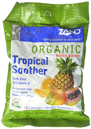 Zand Herbalozenge Organic, Tropical, 18 count bags,  12 Count Review