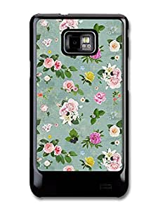 Shabby Chic Flowers Roses Vintage Floral carcasa de Samsung Galaxy S2 A3891