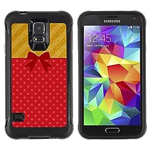 Paccase / Suave TPU GEL Caso Carcasa de Protección Funda para - Gift Birthday Present Symbol Bow - Samsung Galaxy S5 SM-G900