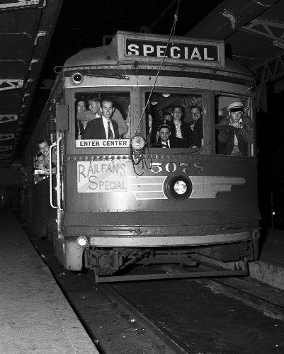 Last Pacific Electric Train, Los Angeles, 1951 Vintage Photo Print 8 X 10