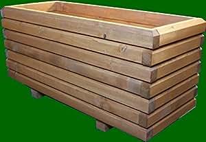 macizo Maceta de madera 80x 50x 48cm 60x 40mm barnizado con barniz para madera roble