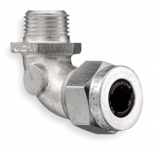 2-7/8''L Zinc-Plated Steel Liquid Tight Cord Connector, Blue, 0.38'' to 0.50'' Cord Dia. Range by Hubbell Wiring Device-Kellems