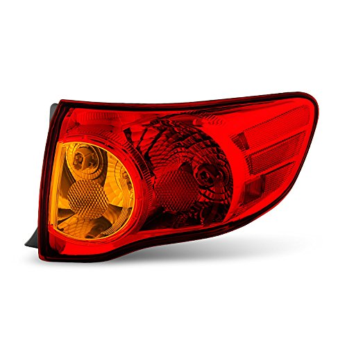 ACANII - For 2009-2010 Toyota Corolla Outer Rear Replacement Tail Light - Passenger Side Only