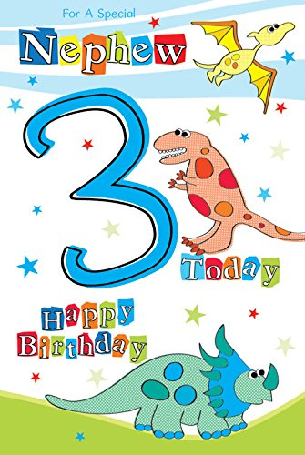 For A Special Nephew 3 Today Dinosaur Design Modern Happy Birthday