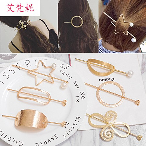 Bob exaggerated Korean Hair barrettes hair fork jewelry Japan and South Korea hairpin hairpin plate hair simple pony tail hair accessories for women girl lady Generic