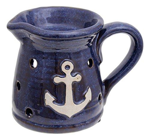 "MayRich 4"" x 5"" Ceramic Decorative Anchor Pitcher Candle Tart Warmer"