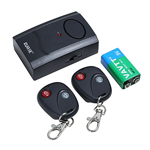 Rupse Motorcycle Scooter Window Door Entry Wireless Anti-theft Security Vibration Alarm with 2 Remote Controller and 9V Battery