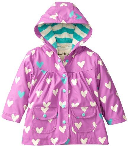 Hatley Little Girls Coat Polka Heart
