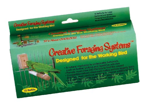 Toy Box Bird Toys - Creative Foraging Systems 15 Small Refill Boxes, 1-3/4 W by 3-3/4 L