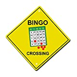 NewFDeals Bingo Crossing Metal Aluminum Novelty Plate Gift Sign for Home/Man Cave Decor - 12'' x 12'' (high x width)