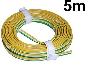 5m Litze 3-adrig grün/weiß/gelb =0,64 € /m Modellbahn-Kabel zu TRIX ...