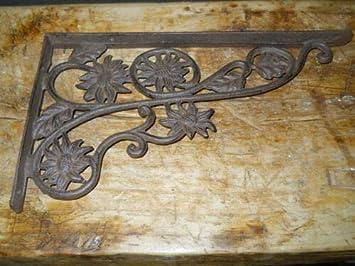 6 Cast Iron Antique Style CABLE Brackets Garden Braces Shelf Bracket Industrial