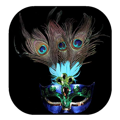 Cosplay Vintage Halloween Costume Peacock Shape Eye mask Collocation Sequins Party Decoration Props