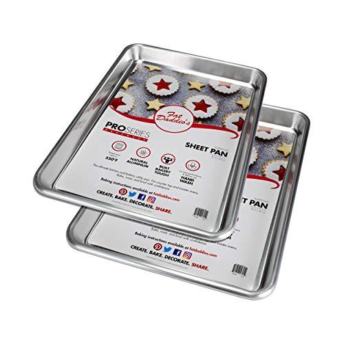 Fat Daddio's Natural Aluminum Quarter Sheet Pan, Set of 2 ()
