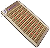 "Amethyst Jade Tourmaline FIR PEMF Photon Mat - Single Size 75""L x 39""W - Adjustable 86-158F Far InfraRed Heating - Bio Stimulation Red Light - Ion- Pulsed Magnetic Therapy -FDA Registered Manufacturer"