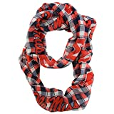 NCAA Mississippi Old Miss Rebels Sheer Infinity Plaid Scarf, One Size, Blue