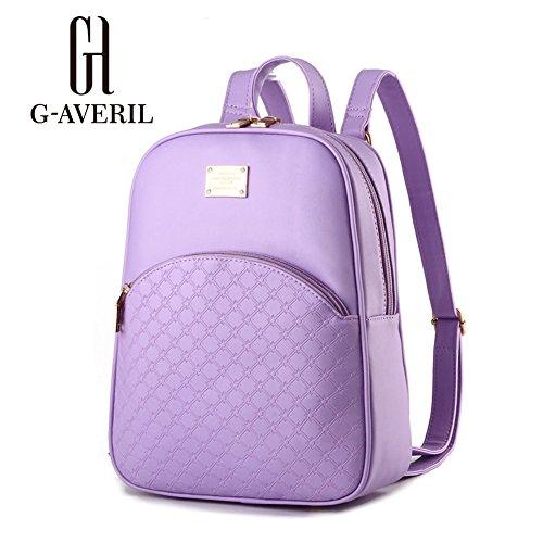 G-AVERIL GA1092-L - Bolso mochila para mujer verde verde morado