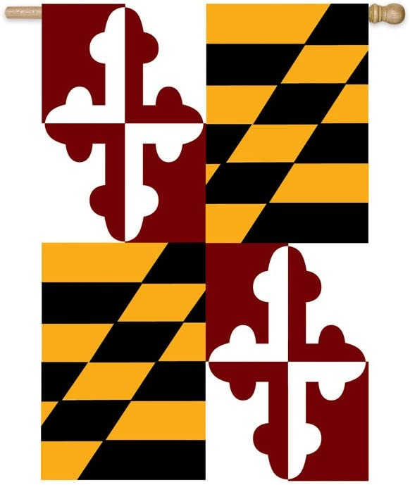 Maryland State Banner Flag-(28-inch X 44-Inch)