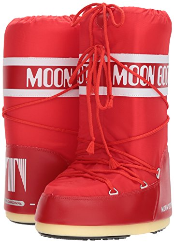 Tecnica Moon Boot Nylon, Botas de nieve Unisex adulto Rosa (Red 003)