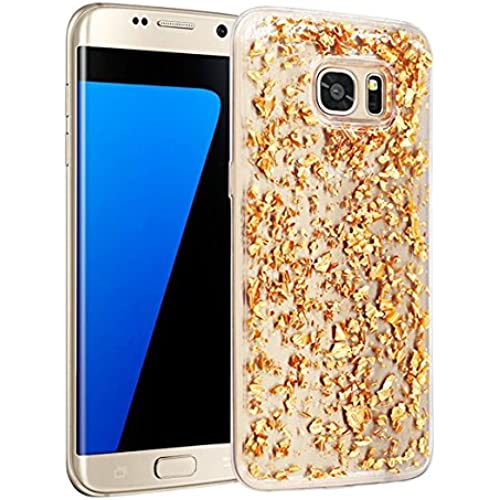 Galaxy S7 edge Case, ALXCD Shiny Luxury Attractive Sparkling Bling Glitter Fragment Soft Transparent Clear TPU Sales