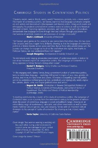 The Language of Contention (Cambridge Studies in Contentious Politics)