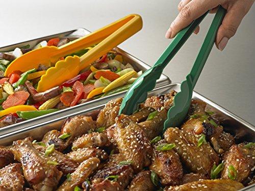 Mercer Culinary Hell's Tools Hi-Heat Utility Tongs, 9.5 Inch, Yellow