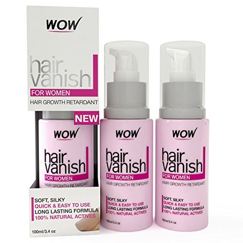 New WOW Hair Vanish For Women - Best Hair Retardant - 100ml / 3.4oz - Long Lasting Hair Removal For Women - New Improved Formula (Pack of 3) by WOW
