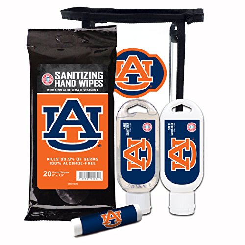- Worthy Promotional NCAA Auburn Tigers 4-Piece Premium Gift Set with SPF 15 Lip Balm, Sanitizer, Wipes, Sunscreen