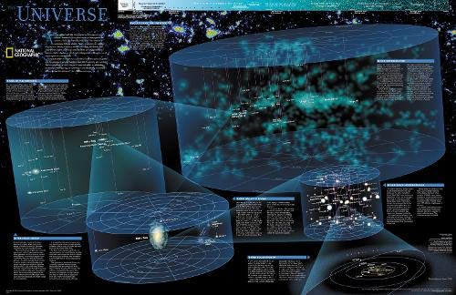 National Geographic: The Universe Wall Map (31.25 x 20.25 inches) (National Geographic Reference Map)