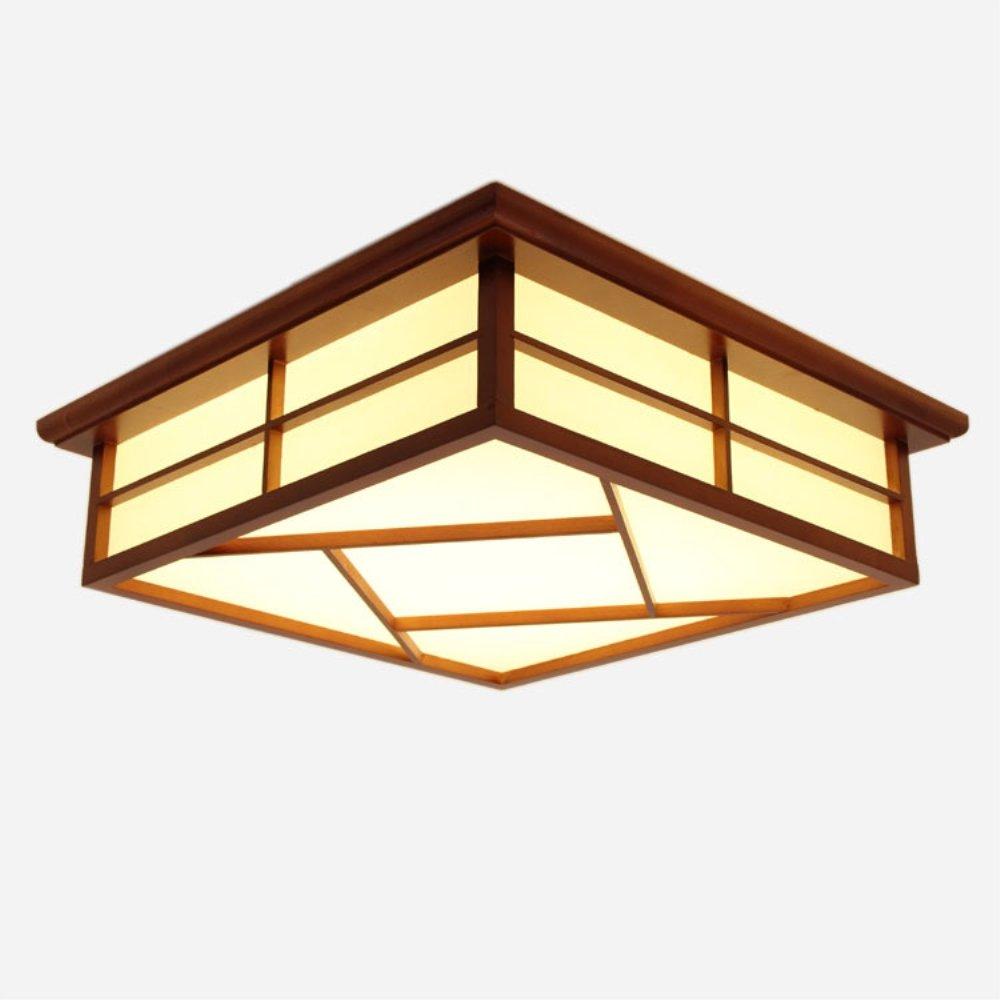 Lampen Tatami Massivholz Lamp Led Farbe Wood Rot Deckenlampe