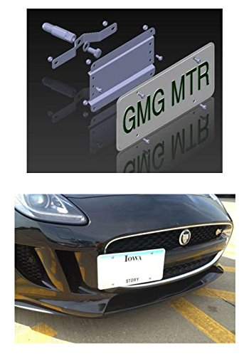 Jaguar F-type NO HOLES License Plate Bracket (Not for models with front sensors) by GMG Motorsports