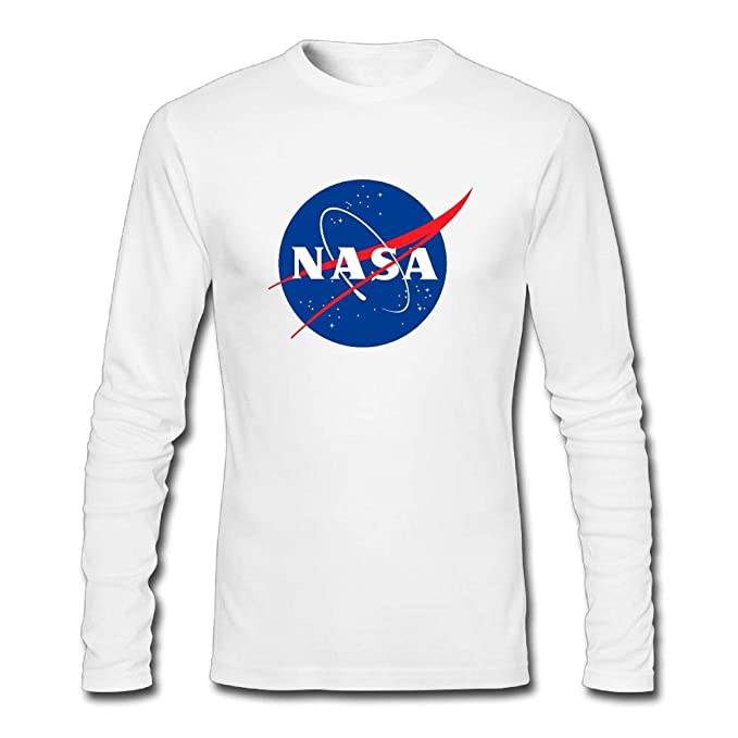 6c8a4e1d Men's NASA Logo Long Sleeve T-Shirt | Amazon.com
