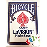 Bicycle Lo- Vision Playing Cards Blue Deck