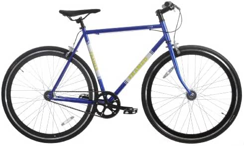 Framed Lifted Bike Fixie Style Single Speed Blue/White/Yellow 52cm