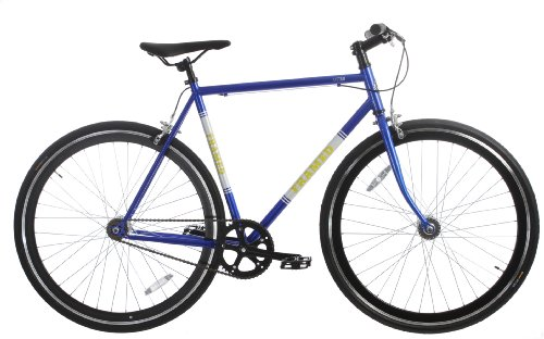 Framed Lifted Bike Fixie Style Single Speed Blue/White/Yellow 56cm